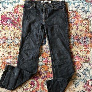 GAP Long & Lean Jeans 8 L VGC Black Wash Stretch